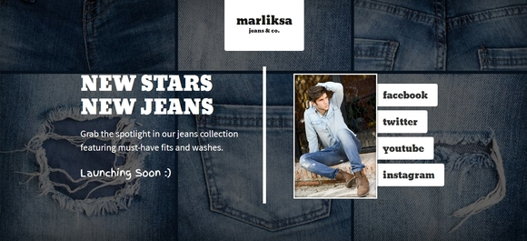 Marliska Jeans - coming soon pages inspiration