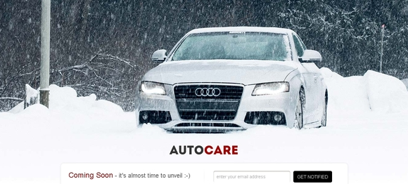 Auto Care - coming soon pages examples
