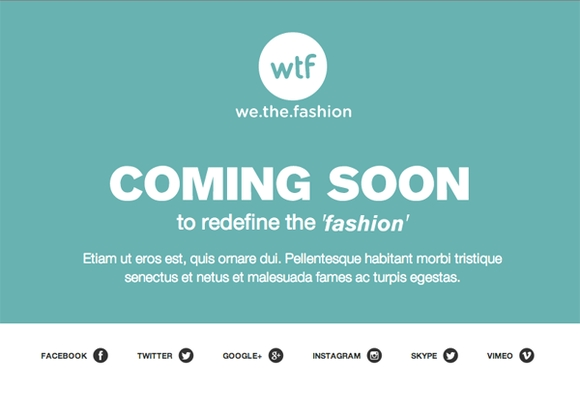 We the fashion coming soon template - web design