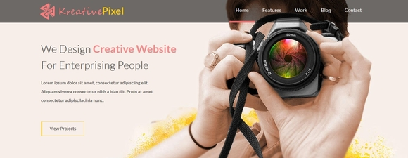 KreativePixel - free website templates