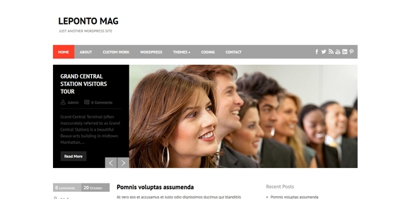 Leponto Mag - best wordpress themes