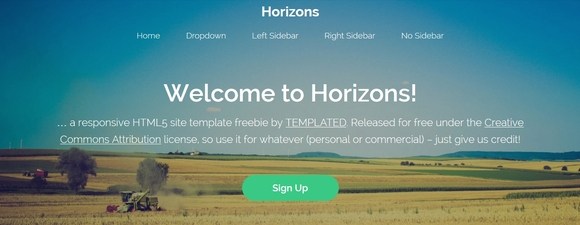 Horizons - free website templates