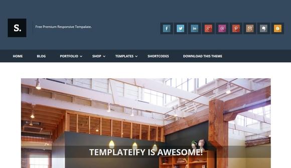 Sentify - free blogger templates