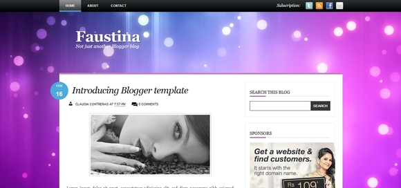 Faustina - free blogger templates 2014