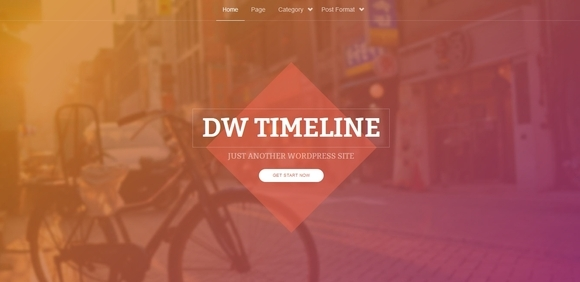 DW Timeline - wordpress themes 2014