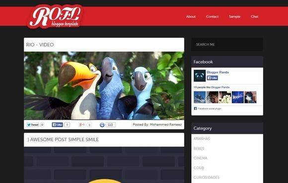 Rofl - best blogger templates
