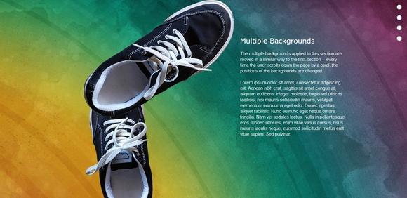 Nikebetterworld Parallax Effect - jquery tutorials