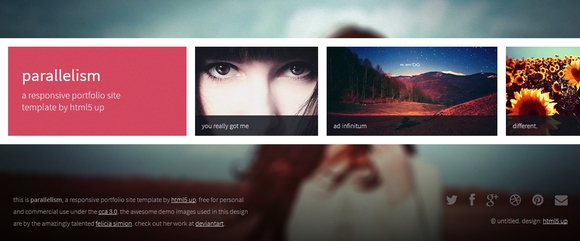 Parallelism - responsive html5 templates