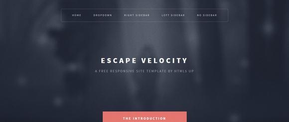 Escape Velocity - responsive html5 templates
