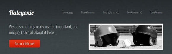 Halcyonic - free html5 templates