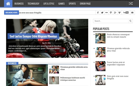 Dynamic Mag - best blogger templates