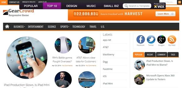GearCrowd Elegant - best blogger templates
