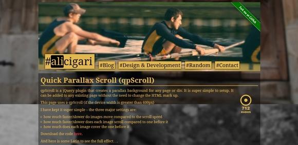 qpScroll - jquery parallax scrolling tutorials