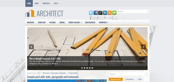 Architect - best wordpress themes
