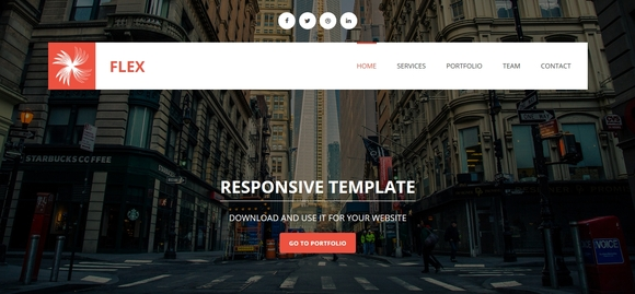 flex - free website templates