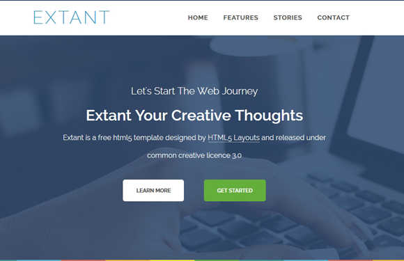 extant - free responsive html5 templates