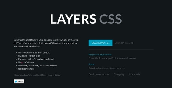Layers CSS - free html5 frameworks