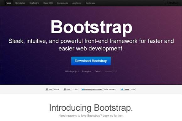 Twitter Bootstrap - html5 frameworks 2014,