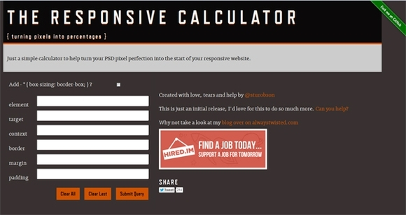 The Responsive Calculator - web design tools