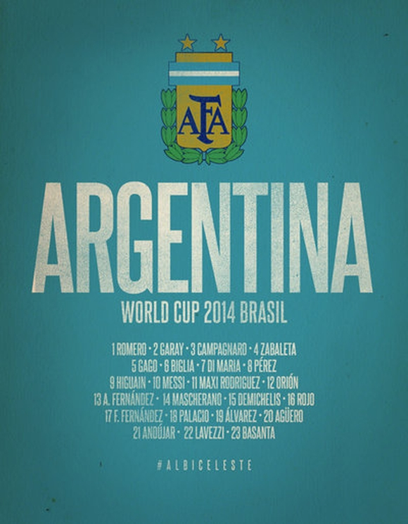 Argentina World Cup 2014 Celebrative Artwork - typography tutorials