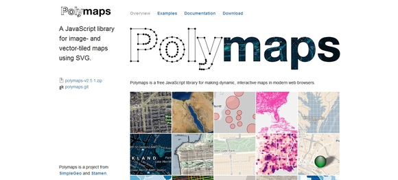 POLYMAPS - data visualization tools