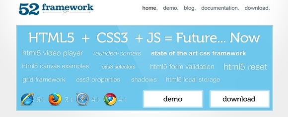 52Framework - html5 frameworks