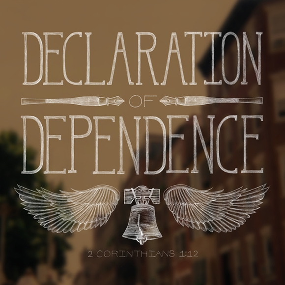 Declaration Of Dependence - typography tools