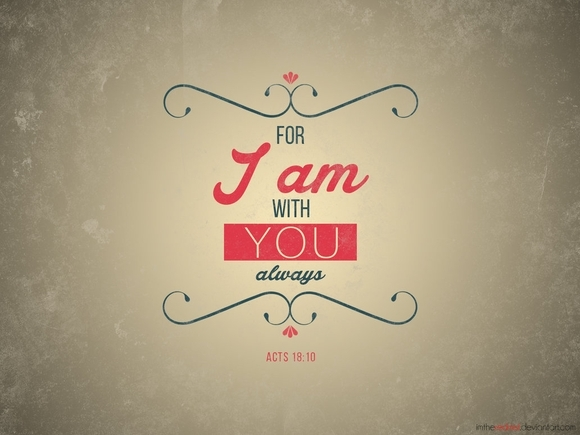 For I am with you always - typography tools
