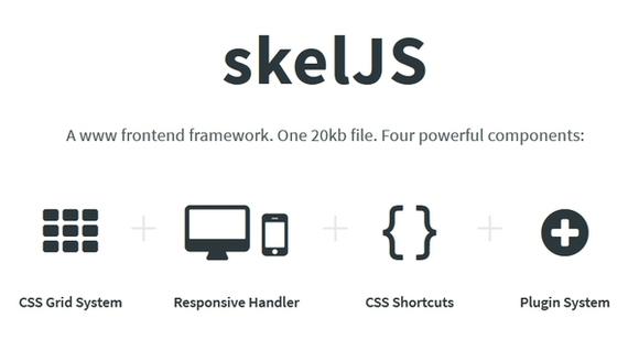 skeljs - responsive html5 css3 framework