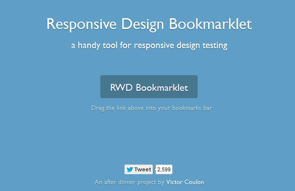 RWD Bookmarklet - free responsive design testing tools
