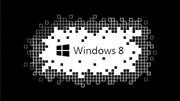 Windows 8 - black and white wallpaper