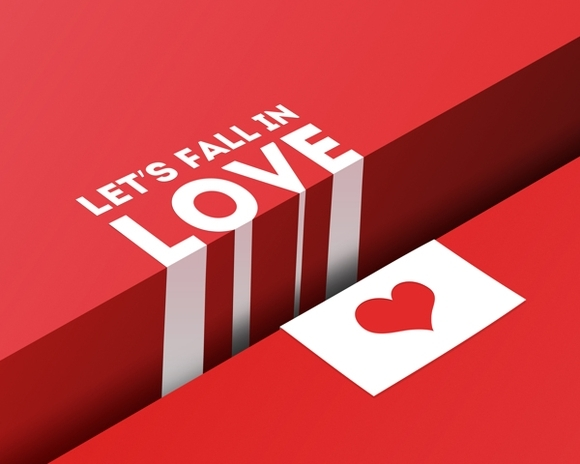 Let's fall in love - typography posters