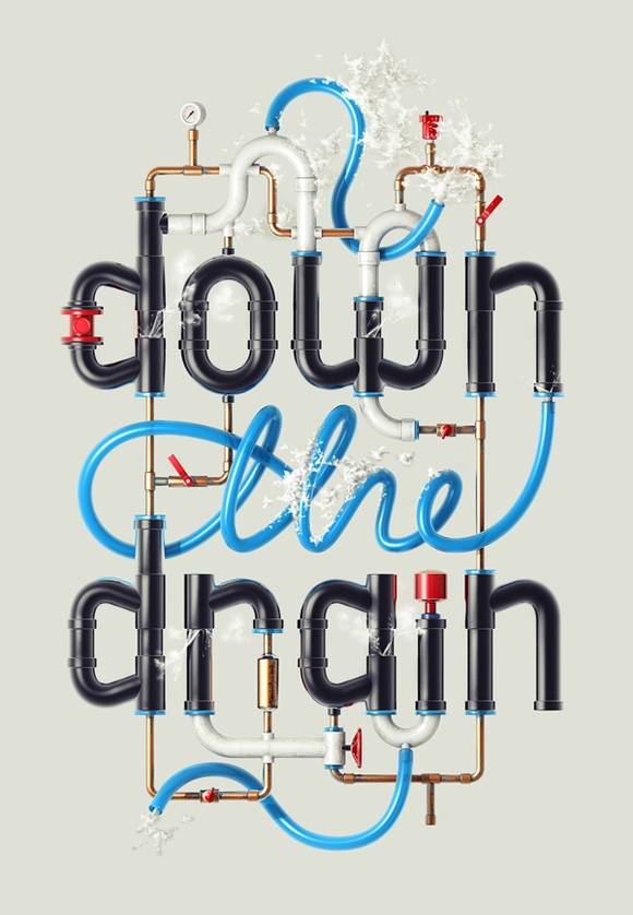 Down the Drain - web design tools