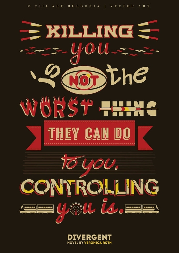 Divergent Quote Typography - typography designs
