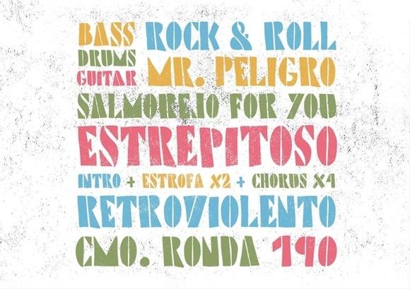 Precarios Stencil Typeface - typography
