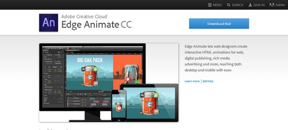 Edge Animate - web design tools