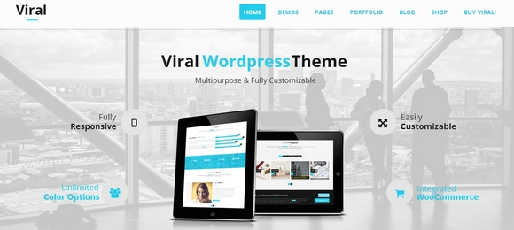 Viral - free wordpress themes
