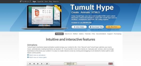 Tumult - web designer
