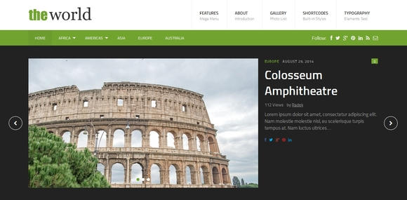 theWorld - best wordpress themes