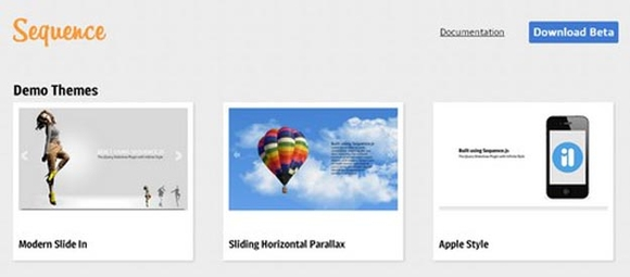 Sequence - jquery image slider plugins