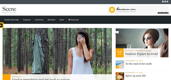 Scene - wordpress blog theme