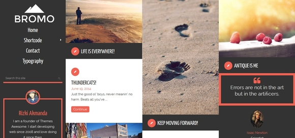 Bromo - wordpress responsive theme