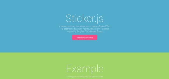 Sticker.js - javascript