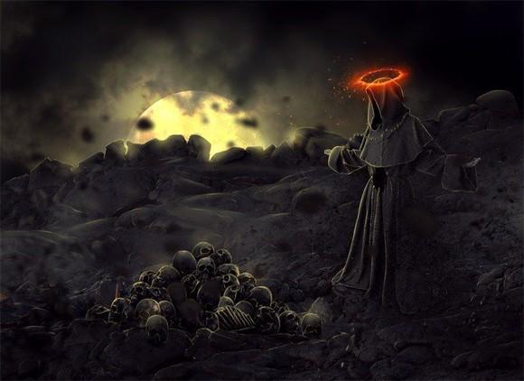 Dark Monk - photoshop
