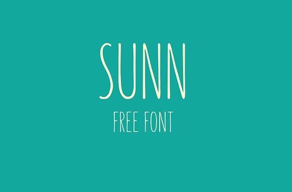 SUNN - Free Font