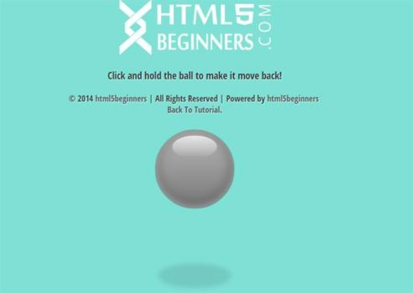 Stunning Bouncing Ball animation with css transition