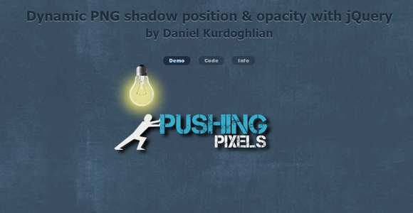Dynamic PNG shadow position & opacity