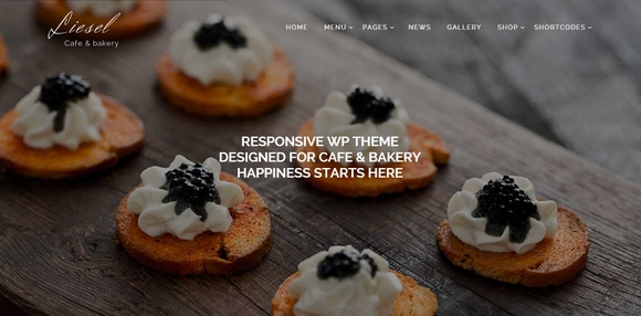 Liesel - Restaurant WordPress Theme
