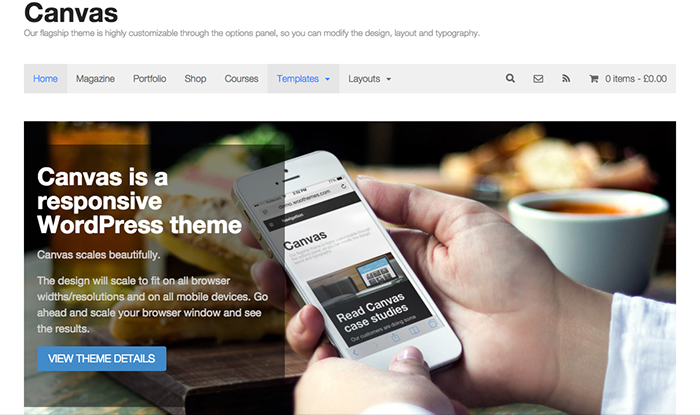 Canvas - Cheap WordPress Themes