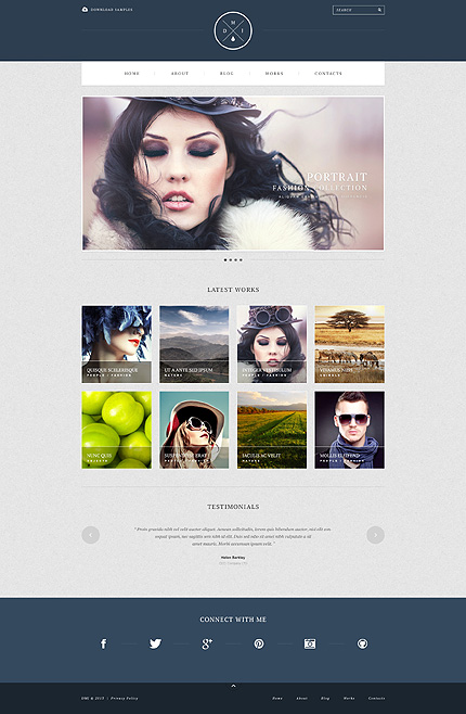 Simple Photographer Portfolio WordPress Theme